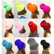 Women′s Soft Stretch Cable Knitted Winter Warm Skull Cap Beanie Hat (HW133)